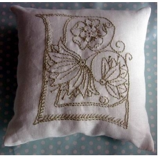 Make your own Embroidered Mini Cushion