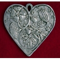Pewter Flower Garden Heart Pendant
