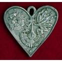 Pewter Arum Garden Heart
