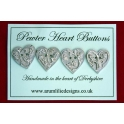 Pewter Heart Buttons