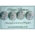 Enchanted Garden Pewter Buttons