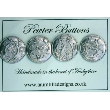 Enchanted Garden Pewter Buttons