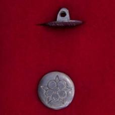 17mm Georgian Rose Pewter Button