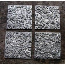 Four Seasons Pewter Wall Plaque Set