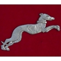 Pewter Greyhound Brooch