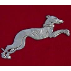 Pewter Greyhound Brooch