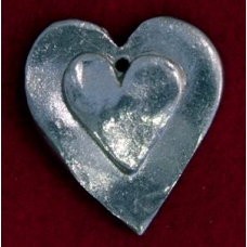 Pewter Double Heart Pendant