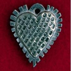 Pewter Elizabethan Heart Pendant