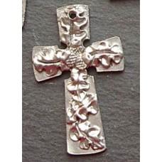 Pewter Oak & Acorn Cross