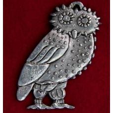 Pewter Owl Brooch