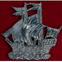 Pewter Galleon Brooch