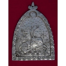Pewter Secret Garden Wall Plaque