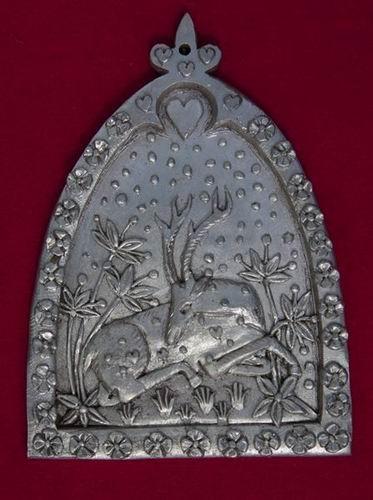 Pewter secret garden wall plaque