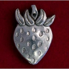 Pewter Strawberry Pendant