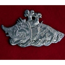 Pewter Sea Monster Brooch