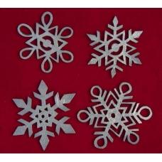 Pewter Snowflakes