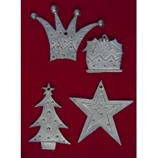 Xmas Pewter Shapes