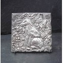 Pewter Fox Tile