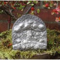 Pewter Mushroom Mouses Plaque