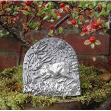 Pewter Running Hare Plaque