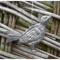 Pewter Hanging Birdie
