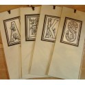 Letter Bookmarks