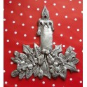 Pewter Candle Decoration