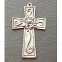 Pewter Tudor Rose Cross Decoration